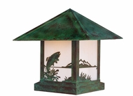 Arroyo Craftsman TRC-12TR Timber Ridge 12 inch Outdoor Pier Mount with Trout Filigree