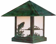 Arroyo Craftsman TRC-16TR Timber Ridge 16 inch Outdoor Pier Mount with Trout Filigree