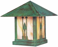 Arroyo Craftsman TRC-16AR Timber Ridge 16 inch Outdoor Pier Mount with Arrow Filigree