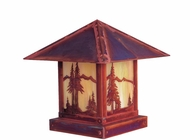 Arroyo Craftsman TRC-9MN Timber Ridge 9 inch Outdoor Pier Mount with Mountain Filigree