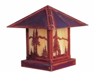 Arroyo Craftsman TRC-12MN Timber Ridge 12 inch Outdoor Pier Mount with Mountain Filigree