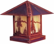 Arroyo Craftsman TRC-16MN Timber Ridge 16 inch Outdoor Pier Mount with Mountain Filigree