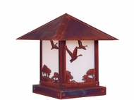 Arroyo Craftsman TRC-9GS Timber Ridge 9 inch Outdoor Pier Mount with Goose Filigree