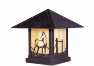 Arroyo Craftsman TRC-9HS Timber Ridge 9 inch Outdoor Pier Mount with Horse Filigree