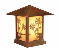 Arroyo Craftsman TRC-9PT Timber Ridge 9 inch Outdoor Pier Mount with Palm Tree Filigree