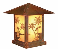 Arroyo Craftsman TRC-12PT Timber Ridge 12 inch Outdoor Pier Mount with Palm Tree Filigree