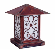 Arroyo Craftsman TRC-9AS Timber Ridge 9 inch Outdoor Pier Mount with Ashbury Filigree