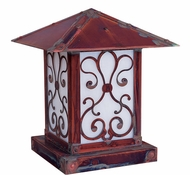 Arroyo Craftsman TRC-12AS Timber Ridge 12 inch Outdoor Pier Mount with Ashbury Filigree