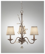 Feiss F26953ARS Priscilla 3-light Mini Chandelier with Crystal Accents