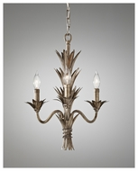 Feiss F26853STA Flora Rustic 3-candle Mini Chandelier