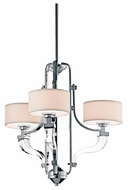 Kichler 42658CH Point Claire Modern 3-light Mini Chandelier