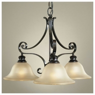 Feiss for Less F19283LBR Cervantes Traditional 3-light Mini Chandelier