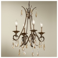 Feiss F26374GIS Reina 4-light Traditional Style Mini Chandelier