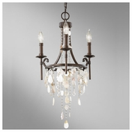 Feiss F26623HTBZ Cascade 3-light Mini Chandelier
