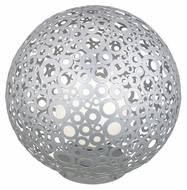 EGLO 89566A Ferroterra Silver 17 Inch Diameter Contemporary Floor Lamp or Path Light