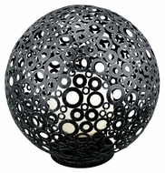 EGLO 89565A Ferroterra Modern 17 Inch Diameter Black Spherical Path Light Floor Lamp