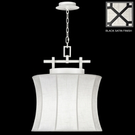 Fine Art Lamps 233449 Black & White Story 26 Inch Tall Pendant Lighting Fixture