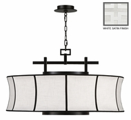 Fine Art Lamps 233540 Black & White Story 32 Inch Diameter Hanging Pendant Light - Transitional