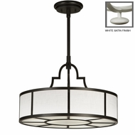 Fine Art Lamps 438540 Black & White Story 24 Inch Diameter Transitional Drum Pendant Light