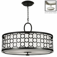 Fine Art Lamps 780140 Black & White Story 33 Inch Diameter Transitional Pendant Drum Light