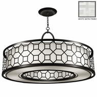 Fine Art Lamps 780340 Black & White Story Transitional Style 48 Inch Diameter Ring Ceiling Light Pendant