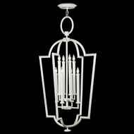 Fine Art Lamps 780440-5 Black & White Story 8 Candle 28 Inch Diameter Traditional Pendant Lighting - White