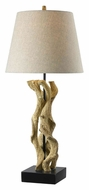 Kenroy Home 32077WDG Twister 32 Inch Tall Wood Grain Modern Table Lamp