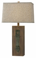 Kenroy Home 32091WDG Locke 30 Inch Tall Rustic Style Dark Wood Grain Table Lamp