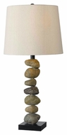 Kenroy Home 32123STN Rubble 29 Inch Tall Stone Finish Rustic Table Lighting