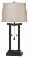 Kenroy Home 32124CBRZ Chimes 31 Inch Tall Copper Bronze Asian Style Table Lamp