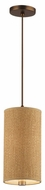 Forecast Taylor Contemporary Grasscloth Mini Pendant Light