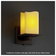 Justice Design 867119 Montana Wall Sconce with Melted Rim Square Glass