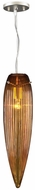 PLC 234-AMBER Manhattan Amber Glass Pendant Light