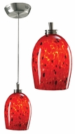 PLC 314-RED Pina Low-Voltage Mini-Pendant Light with Red Glass