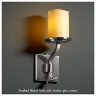 Justice Design 8781-14 Sonoma 1-Light Short Wall Sconce with Melted Rim Glass