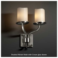 Justice Design 8782-14 Sonoma 2-Light Short Wall Sconce with Melted Rim Glass