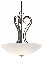 Kichler 42987OZ Claridge Court Large 3-light Inverted Pendant Light Fixture