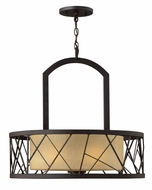 Fredrick Ramond 41613ORB Nest 3-lamp Drum Pendant Light