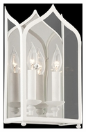 Troy B3612 York White Finish 14 Inch Tall 2 Candle Wall Lighting Fixture