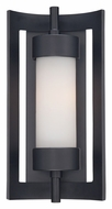 Quoizel MLN8307K Milan Small 14 Inch Tall Outdoor Sconce Lighting - Mystic Black