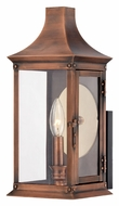 Quoizel SLM8306AC Salem Small 14 Inch Tall Aged Copper Outdoor Sconce Lighting