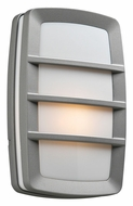 PLC 1734SL Aston 12 Inch Tall Transitional Silver Exterior Sconce Lighting