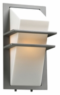 PLC 1741SL Juventus Fluorescent Optional Silver Finish Outdoor Sconce