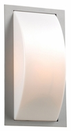 PLC 1742SL Breda Silver Transitional 13 Inch Tall Outdoor Sconce With Fluorescent Option