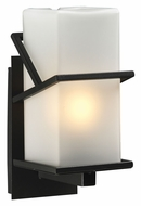 PLC 1747BZ Oxford 12 Inch Tall Outdoor Fluorescent Optional Wall Light Fixture
