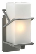 PLC 1747SL Oxford 12 Inch Tall Transitional Exterior Light Sconce - Silver