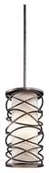 Kichler 42466WMZ Krasi 7 Inch Diameter Contemporary Mini Pendant Lighting - Warm Bronze