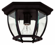 Kenroy Home 16277BL Dural Flush Mount 11 Inch Diameter Ceiling Lighting - Black
