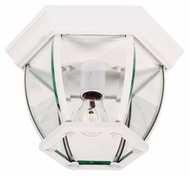 Kenroy Home 16277WH Dural White Finish 11 Inch Diameter Exterior Flush Lighting Fixture