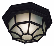 Kenroy Home 16289BL Dural Outdoor Black Finish 12 Inch Diameter Ceiling Light Fixture